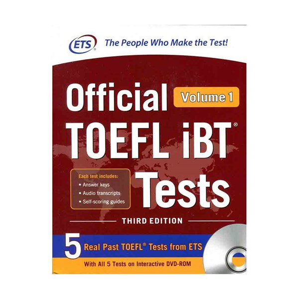 ETS Official TOEFL iBT Tests 3rd - Volume 1+ DVD